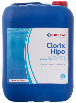 Hipoclorito s dico piscinas quicesa pisciman a for Cloro liquido para piscinas