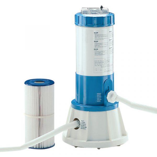 Filtro cil ndrico con bomba incorporada para piscina for Filtro piscina desmontable
